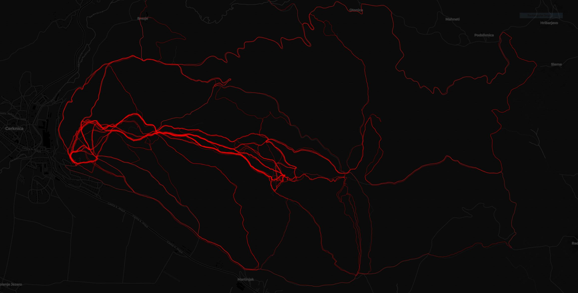 Slivnica poti heatmap